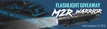 Win an Olight M2R Warrior Rechargeable Tactical Flashlight