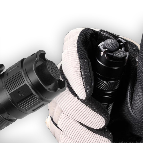tactical flashlight tail cap examples
