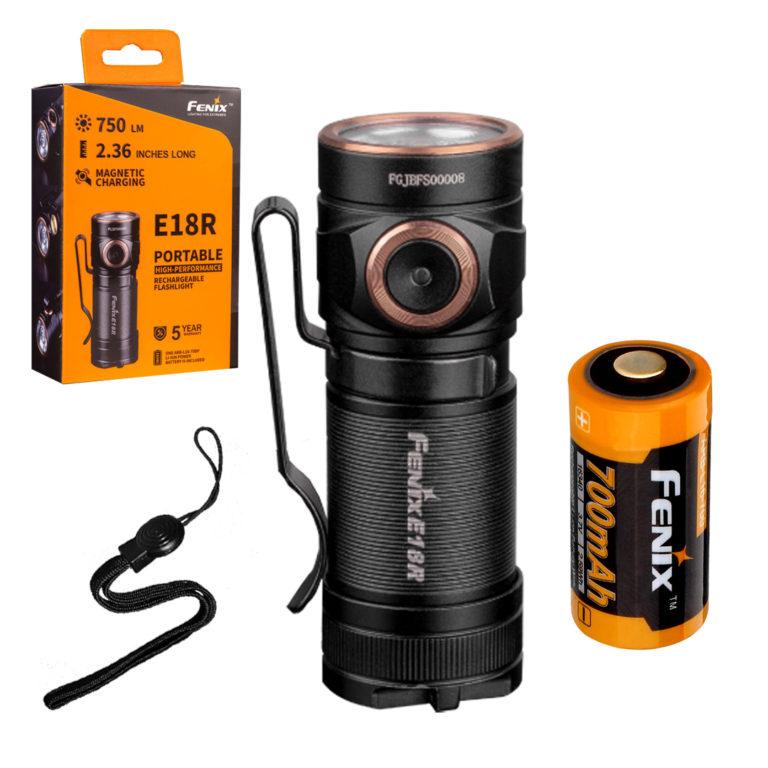 Fenix E18R rechargeable mini flashlight