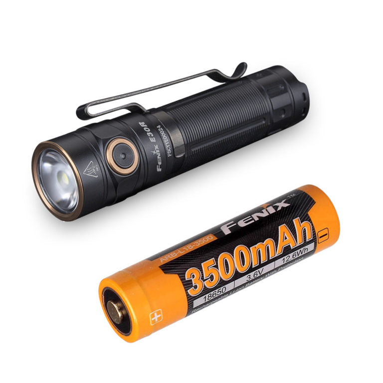 Fenix E30R 1600 lumen USB rechargeable flashlight