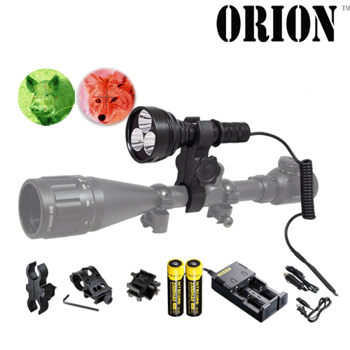 Orion M30C 700 lumen red or green hunting flashlight kit